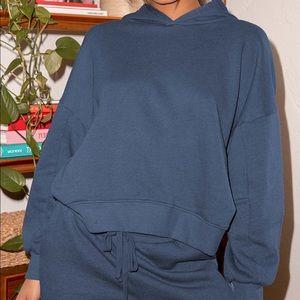 Lulus Boat House Denim Blue Pullover Hoodie